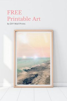 Abstract Ocean Printable Art by DIY Wall Prints    Decorate your walls without breaking the bank!