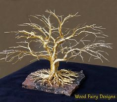 Custom Made Housewarming Wire Tree of Life Sculpture for Art &