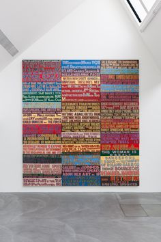 Bob and Roberta Smith invites visitors to make work for his new show Properties Of Materials, Its Nice That, New Shows, Types Of Wood, Art School, Will Smith, Contemporary Art, Bob, Typography