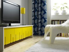 The IKEA PS 2012 TV bench, anything but predictable. Designers: Lisa Widén and Anna Wallin Irinarchos of WIS design.