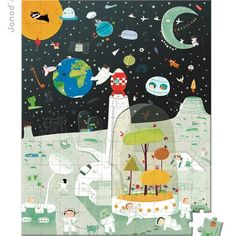 Outer Space Puzzle in All Toys New Kids Toys, New Toys, 100 Piece Puzzles, Plan Toys, Radio Flyer, Kids Birthday Gifts, Baby Store, Toys Shop, Crate And Barrel