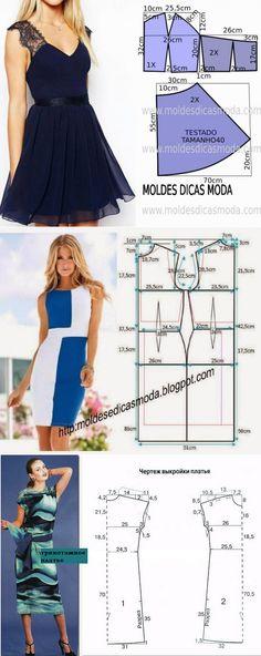 Простые выкройки летних платьев 2