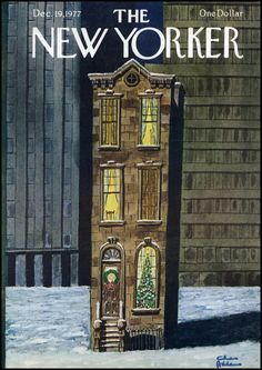 The New Yorker cover by Charles Addams, December 1977