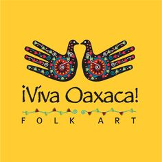 Logo Design for Mexican Handcrafts Website - Viva Oaxaca Folk Art. They sell colourful folk art that is made-by-hand in the city of Oaxaca, in Mexico. They specialize in woodcarvings, shiny tin ornaments and day of the dead skeleton figures. www.VivaOaxacaFolkArt.com  Designed by Agdc on HiretheWorld.com: https://www.hiretheworld.com/profile/agdc/