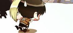 Shingeki No Chibi - Annie and Eren