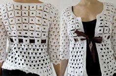 DE MIS MANOS TEJIDOS Y MAS...: Tejidos a Crochet women blouse ...