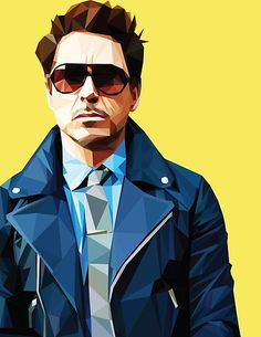 Robert Downey Jr - Low Poly Vector Art Throw Pillow by khitkhat - Cover x with pillow insert - Indoor Pillow Marvel Dc Comics, Marvel Heroes, Marvel Avengers, Captain Marvel, Iron Man Wallpaper, Marvel Wallpaper, Tony Stark Wallpaper, Iron Man Art, Robert Downey Jr.