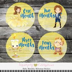 Baby Monthly Stickers, Set of Baby Milestone Stickers, Baby Sticker, Baby Bodysuit Sticker, Baby Sho