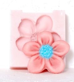 Kawaii Flower Silicone Mold make your own by MoldMeShapeMe on Etsy, $5.00