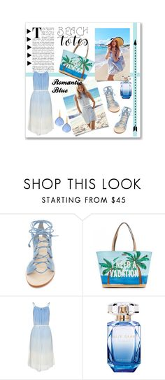 """""""Look of the day: Blue Beach Tote"""" by cstarzforhome ❤ liked on Polyvore featuring Cornetti, Kate Spade, Elie Saab, Bucherer and beachtotes"""