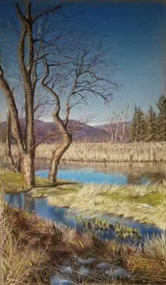 Scorcio del lago di Comabbio. Pastello 50 x 65. Cristina Destri