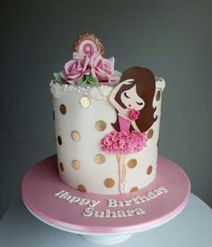 Ballerina cake by Couture cakes by Olga - Rezepte - Kuchen Girly Cakes, Cute Cakes, Pretty Cakes, Sweet Cakes, Fondant Girl, Fondant Cakes, Cupcake Cakes, Fondant Cake Designs, Ballet Cakes