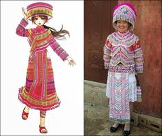 Traditional Clothes of Hmong People in China, Vietnam, Laos and Thailand