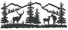 Elk/Tree Scene wall vinyl