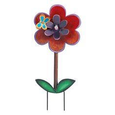 PORTAZAMPIRONE IN METALLO A381   Portazampirone fiore in metallo da vaso e da giardino. Dimensione: 19x42h cm. Elena Cecconi Design.