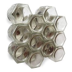 Gneiss Spice DIY Magnetic Spice Rack: Includes Empty Large Hexagon Jars (4 oz), Magnetic Lids and Clear Labels (Set of 24, Gold Lids) -- Additional details at the pin image, click it  : home diy kitchen