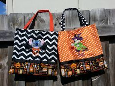 Disney Inspired Halloween Embroidered Tote Bag Minnie by AvaBabyCo, $24.00