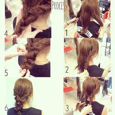 ねじった髪を三つ編みするだけでこんなに可愛く♡ 画像のように...|MERY [メリー]