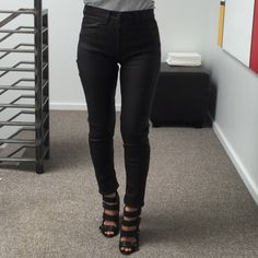 Rare! Hudson LEATHER pants 27 This product is brand new and a peice straight from corporate. Not sure what kind of leather it is... Feels like lamb leather. It's buttery soft! And is very stretchy.  Retail on leather jeans from Hudson is usually $895. Hudson Jeans Pants Skinny