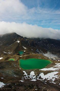 Emerald Lakes-Tongariro National Park, New Zealand