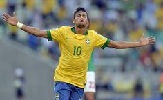 Neymar decide, Brasil vence México e coloca pé na semifinal. (Foto: Yuri Cortez/AFP)