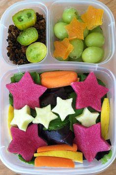 Star veggie salad. Very nice idea for Kid's lunch box.