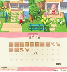 """Wild Animals 337277459597890298 - Rosa's Complete Path Set! The two labeled """"grassy"""" can be used on top of permit-acquired paths for natural edges. : ACQR Source by Sydoetco Animal Crossing Guide, Animal Crossing Qr Codes Clothes, Animal Crossing Pocket Camp, Game Boy, Acnl Paths, Motif Acnl, Ac New Leaf, Motifs Animal, Like Animals"""