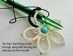 Yarnplayer's Tatting Blog: Double Flower Using Celtic Shuttle