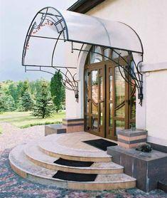 Полукруглое крыльцо для дома европейского типа
