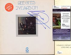 "BARRY GIBB Hand Signed ""Bee Gees 2 Years On"" LP - JSA COA - UACC RD#289 in Collectibles, Autographs, Music 