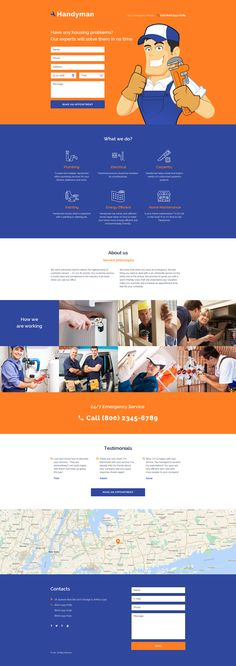 Home Repairs Responsive Landing Page Template #58248