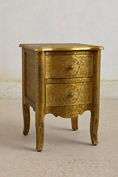 Hand-Embossed Nightstand #anthropologie --- I wanted to pin the silver one but only this one shows up, go look.  $279