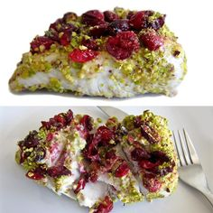 Fish Recipes, Healthy Recipes, Whitefish, Kitchenette, Fish And Seafood, Pistachio, Risotto, Cauliflower