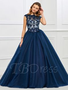 Tbdress.com offers high quality Jewel Ball Gown Appliques Beaded Floor-Length Quinceanera Dress Ball Gowns unit price of $ 156.99.