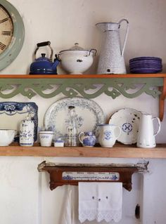 Coordinate all your collected, inherited and time-worn vintage finds according to colour.