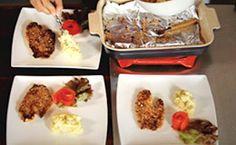 Peixe assado empanado na quinoa com maionese de linhaça - Receitas - Receitas GNT