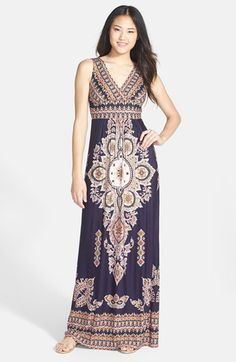 FELICITY & COCO Paisley Print Jersey Maxi Dress (Regular & Petite) (Nordstrom Exclusive) available at #Nordstrom