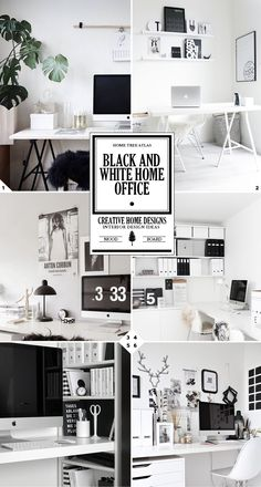 Black And White Home Office Ideas And Designs