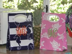 $18 Love these! Monogramed Lunch Bags