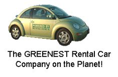 VW Beetle at Bio-beetle, Greenest Car rental on the planet