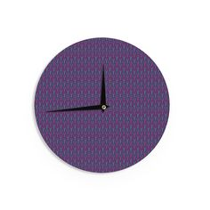 """Holly Helgeson """"Fairy Forest"""" Blue Purple Wall Clock"""
