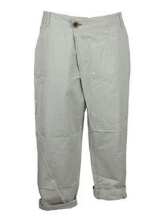 cfbe1d8547d8f Pas De Calais Womens Cropped Off-White Asymmetrical Fly Pants M Pas de  Calais.