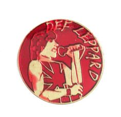 """vintage DEF LEPPARD Pyromania heavy metal enamel pin NWoBHM rock of ages by VintageTrafficUSA  11.00 USD  20 years old hard to find vintage high-quality cloisonne lapel/pin. Beautiful die struck metal pin with colored glass enamel filling. A vintage Def Leppard pin! Excellent but used condition. Measures: approx 1"""" or less -------------------------------------------- SECOND ITEM SHIPS FREE IN USA!!! LOW SHIPPING OUTSIDE USA!! VISIT MY STORE FOR MORE ITEMS!!! http://ift.tt/1PTGYrG FOLLOW ME…"""