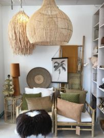 Rotan hanglamp Dome medium Natural Interior, Bean Bag Chair, Dressing, Lighting, Medium, Ibiza, Nest, House, Interiors