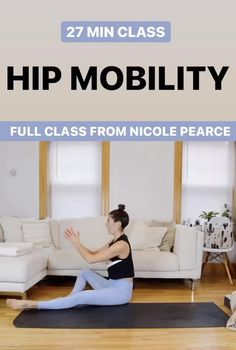 Hip Mobility Exercises, Flexibility Workout, Hip Workout, Workout Videos, Hip Opening Yoga, Ab Circuit, Tight Hips, Injury Prevention, Work Outs