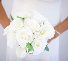 Watch this video to learn how to make this white wedding bouquet. This DIY silk flower bouquet combines rose and calla lily pre-made bouquets into one beautifu Calla Lily Wedding, Diy Wedding Bouquet, White Wedding Bouquets, Diy Bouquet, Diy Wedding Flowers, Diy Wedding Decorations, Bridal Bouquets, Diy Flowers, Wedding Ideas