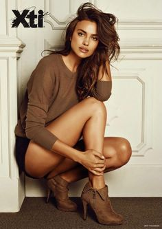Irina Shayk Models Boot Styles in XTI Shoes Fall 2014
