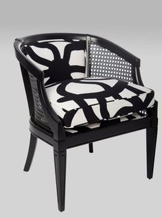 Black High-Gloss Cane Chair  chairs