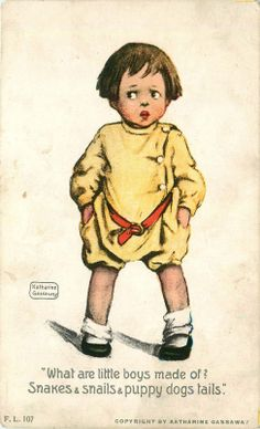 A s Katherine Gassaway Rotograph Postcard What Are Little Boys Made Of | eBay