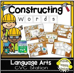 """Your students will have fun and reinforce their phonics skills with this fun pack!They will love building words with the 1"""" Letter Tiles!  ******This product was created to go with the 1"""" Letter Tiles Learning Set bucket in stores.Skill Focus: CVC WordsThis set is meant to target different levels of learning.What's IncludedReading Mats to create wordsWriting Mats to write words""""Build, Make, Write"""" Mats ~ 2 styles60 Picture cards to go with Mats56 CVC Picture and Word Cards56 CVC Picture…"""